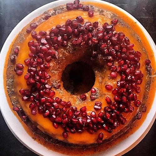 Pound Cake with Mango Cardamom Glaze
