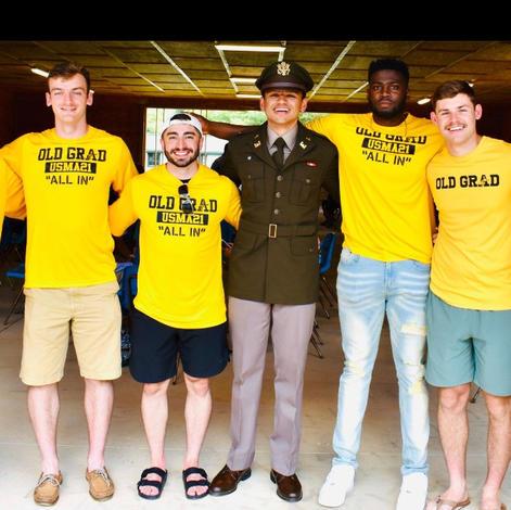 Lt Patel with fellow West Point grads 2Lts Ward Waldron Figueroa Ceccco Patel Dawson Forti