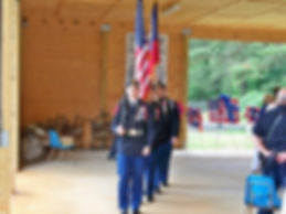 Jr ROTC Color guard Memorial Day at CTaC