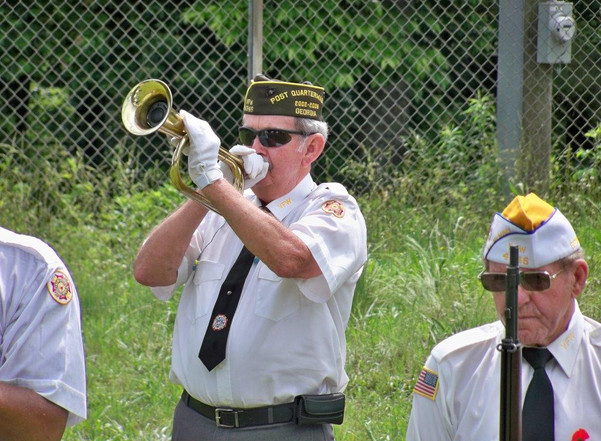 Taps by VFW at Memorial Day CTaC pavilio