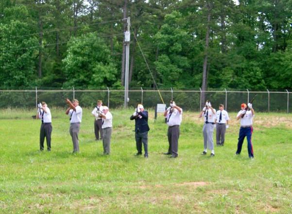 VFW 21 gun salute Memorial Day at CTaC p