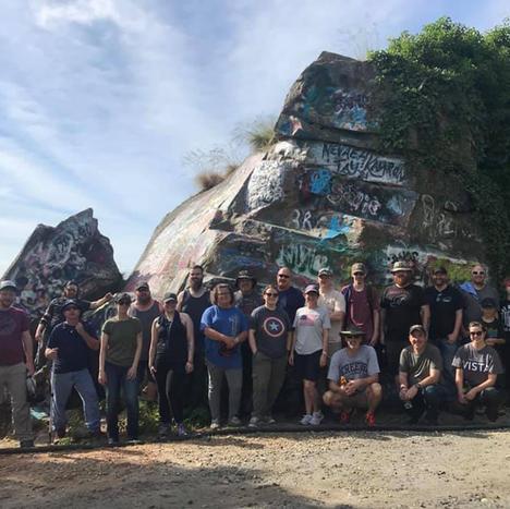 Currahee Mountain clean up team.