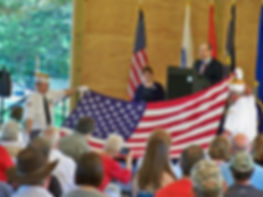 VFW Flag folding CTaC pavilion Memorial