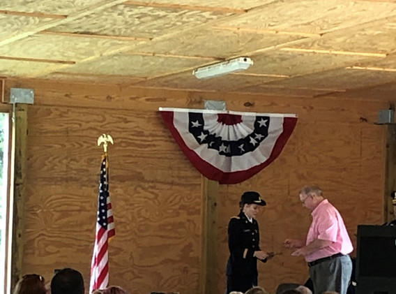 CTaC presents Lt Vickery with 75th D Day
