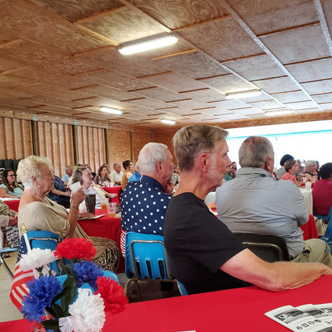 Jason Wetzel author POW Camps in Ga WWII at D Day banquet 2021.