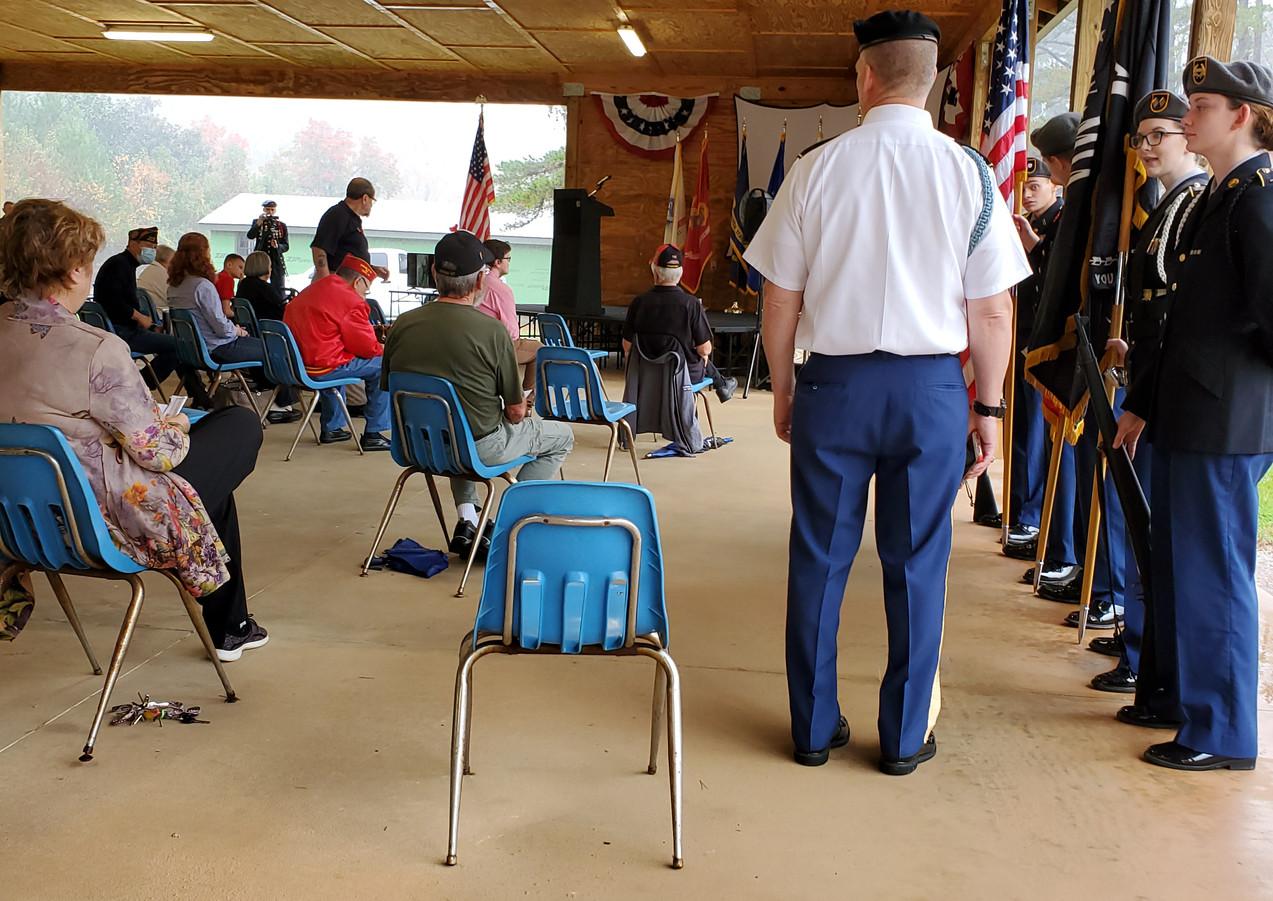 2020 HS Jr ROTC Color Guard at CTaC pavi