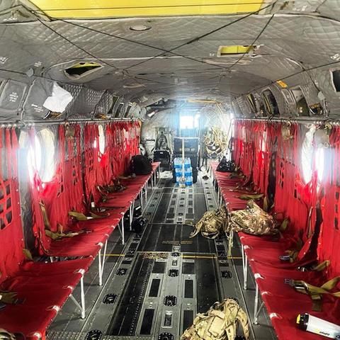 Inside Chinook at Toccoa capacity 33