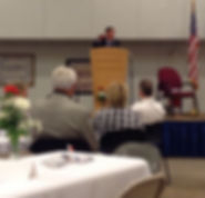 Gen David Petraeus speaks in Toccoa Oct