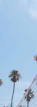 Spike de volleyball de plage