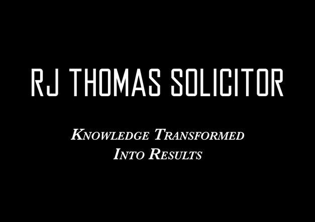 RJ Thomas Solicitor