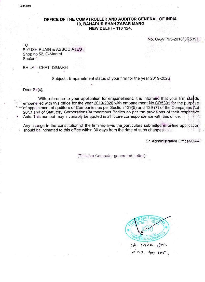 CAG Registration - Piyush Jain Piyush P