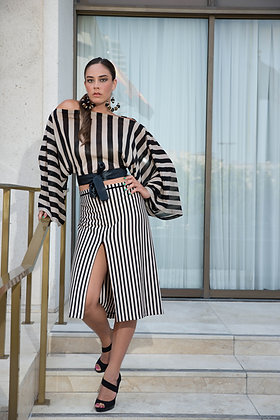Two Piece Bustle Skirt Set