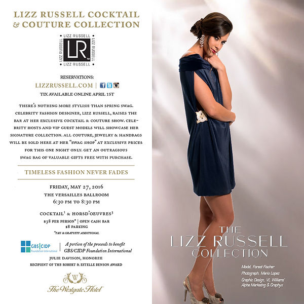 Lizz Russell Cocktail & Couture Collection 2016 Fashion Show