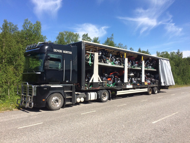 Truck voll beladen...