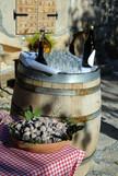 Der Innenhof des Weingutes