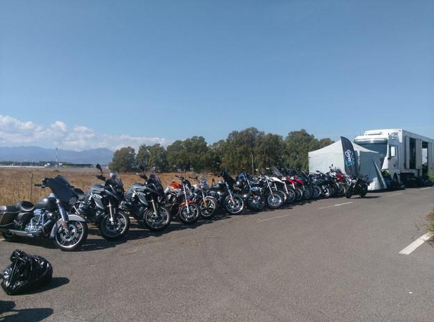 Abholung der Motorräder