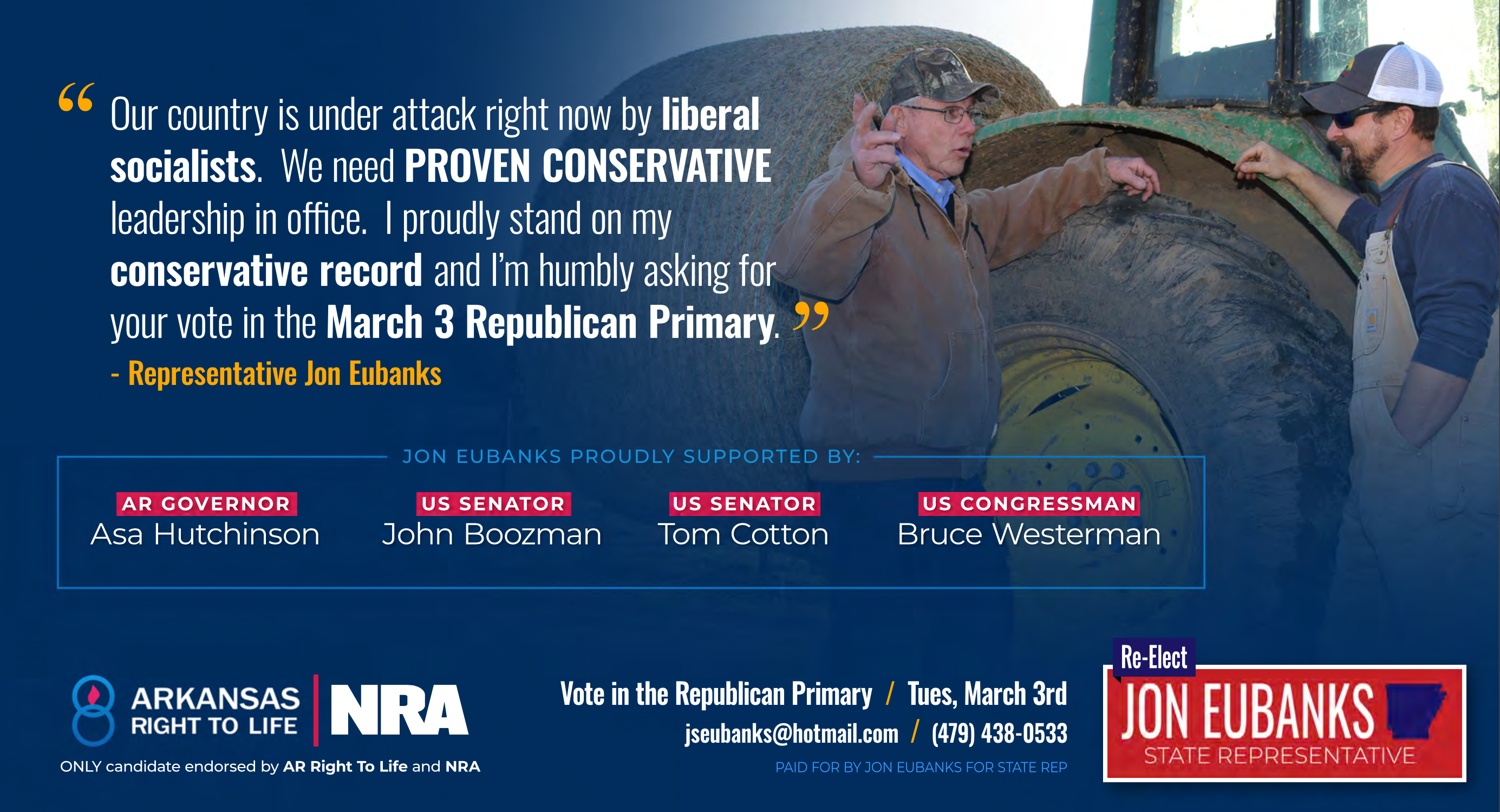 Endorsements - Re-Elect State Rep. Jon Eubanks