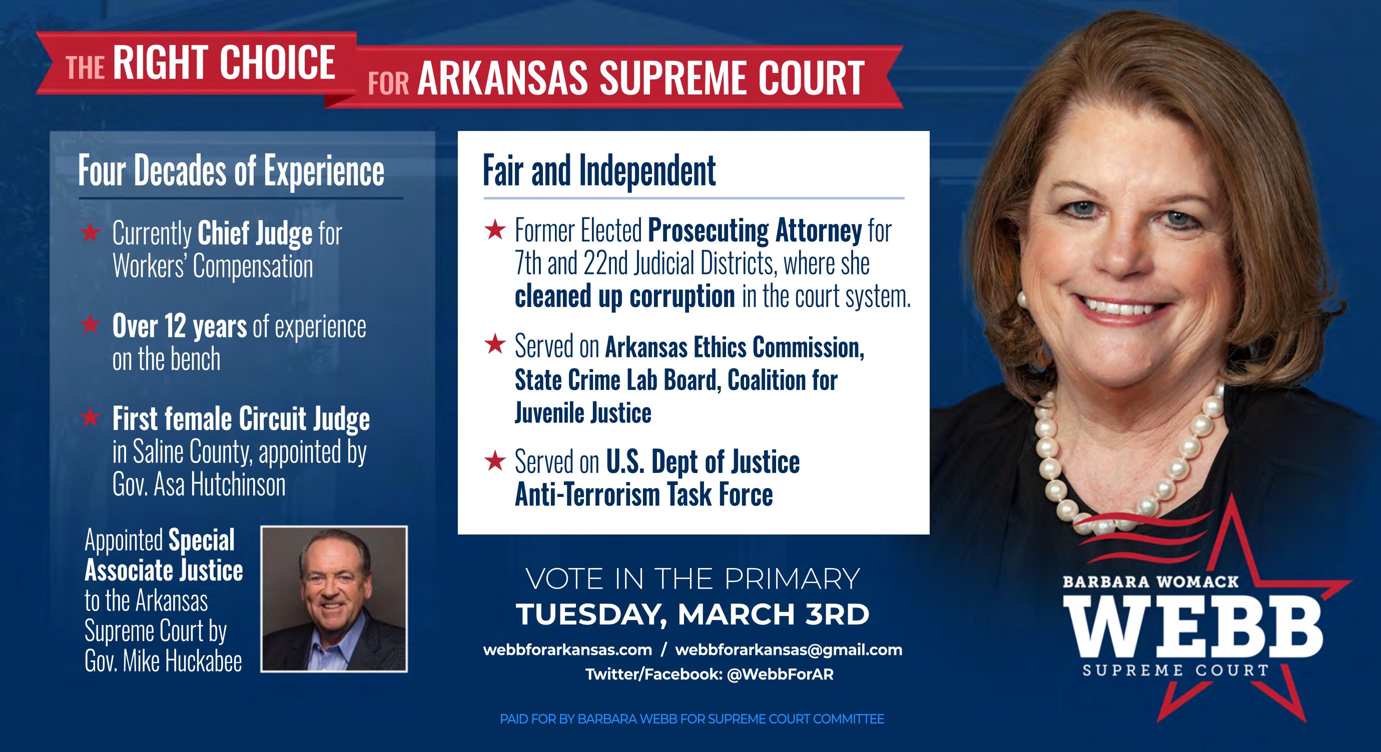 Barbara Webb for Arkansas Supreme Court