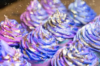 purple handmade bath bomb cupcakes