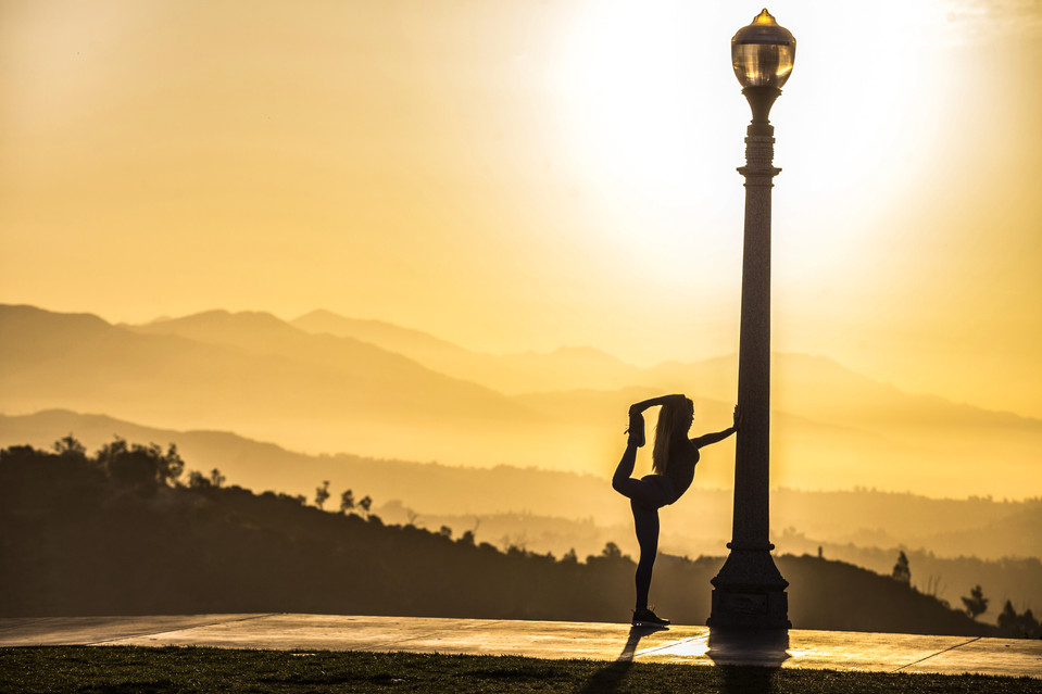 Morning stretching - Los Angeles - California