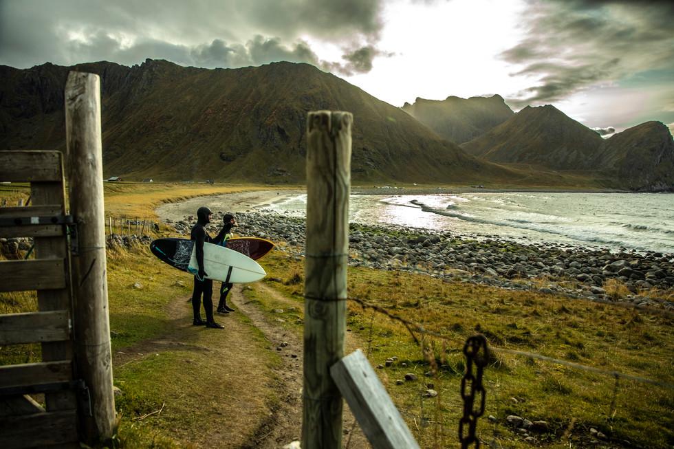 Surfing - Lofoten - Norway