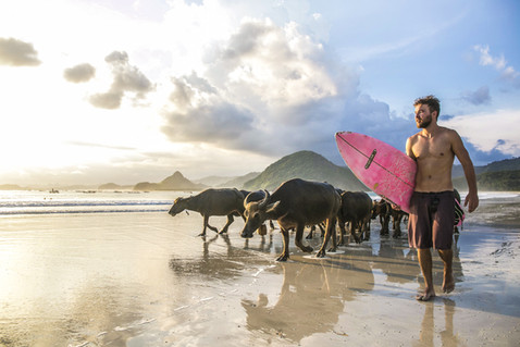 Surfing with friends - Lombok - Indonesia