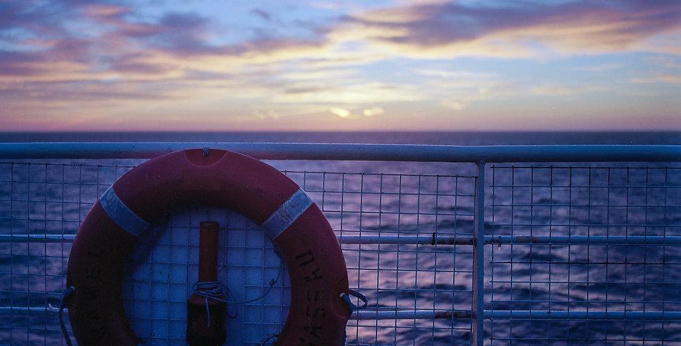 Morgen auf See
