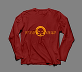 Long Sleeve TShirt Burgundy:Gold Front.p