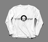 Long Sleeve TShirt White:Black Front.png
