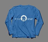 Long Sleeve TShirt Blue:White Front.png