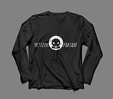 Long Sleeve TShirt Black:White Front.png