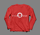 Long Sleeve TShirt Red:White Front.png