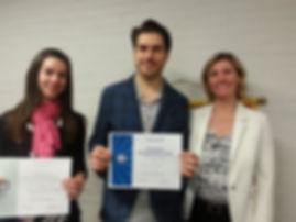 Deux membres du Club Toastmasters Montréal honorés pour leur performance lors d'un concours d'art oratoire