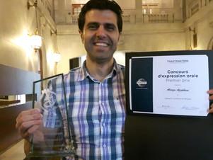 Toastmasters: un honneur bien mérité pour Alireza Azizkhani