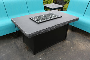 Slate Chat Gas Fire Pit