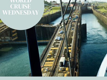 World Cruise Wednesday Day 5: Historic Panama Canal