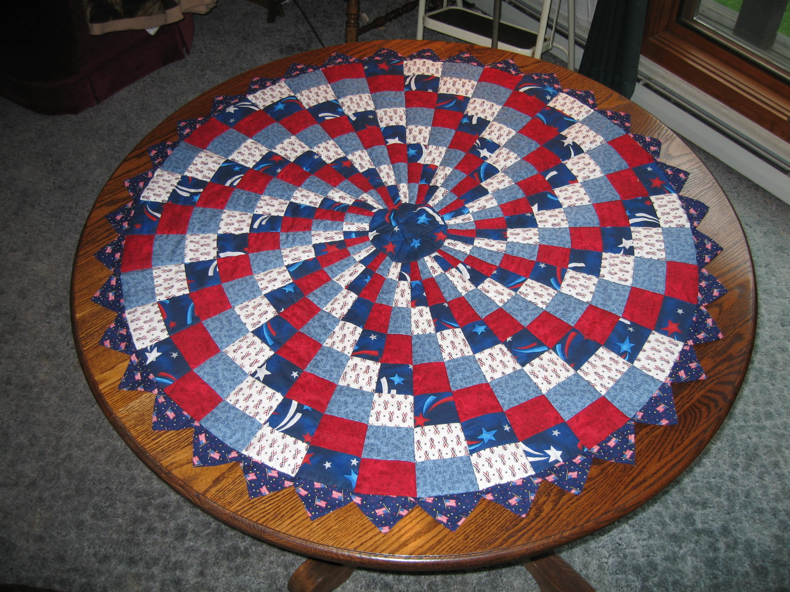 Patriotic Quilt Without Corners