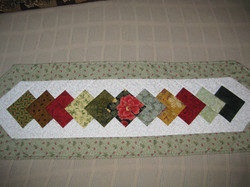 Table runner quilt as you go (2)