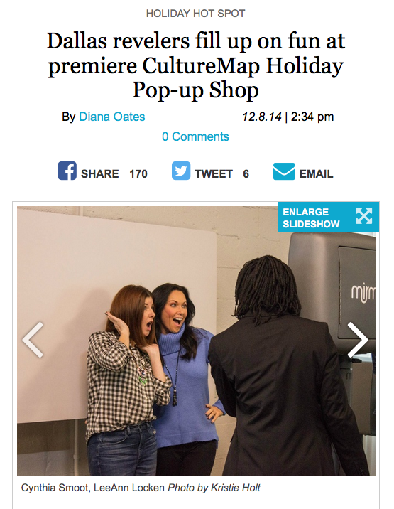 CultureMap Holiday Pop-up Shop