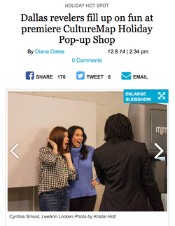 CultureMap Holiday Pop-up Shop