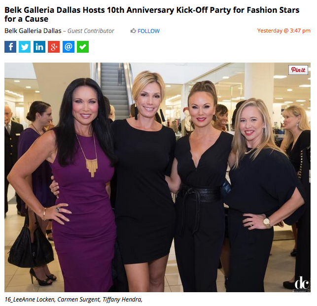 Kick-Off for Fashion Stars Gala