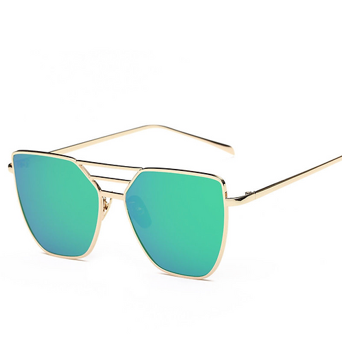 Iridescent Blue/Green/Purple in Gold 3 Bar Frames