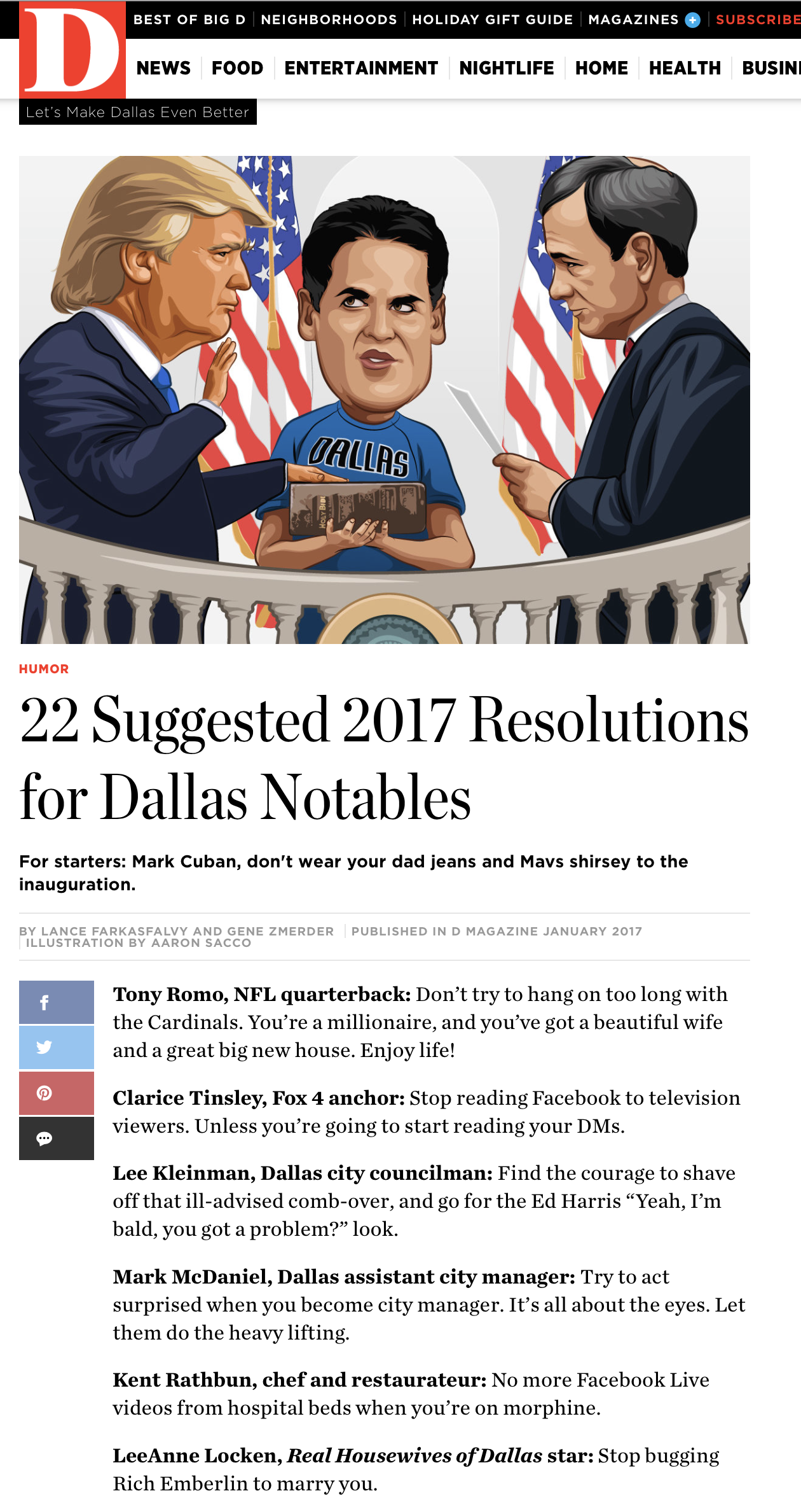 D Mag 2016 Resolutions