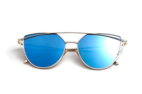 Deep Blue with Gold Frames