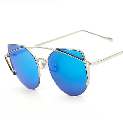 Deep Blue with Silver Frames