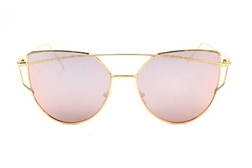 Iridescent Pink with Gold Frames