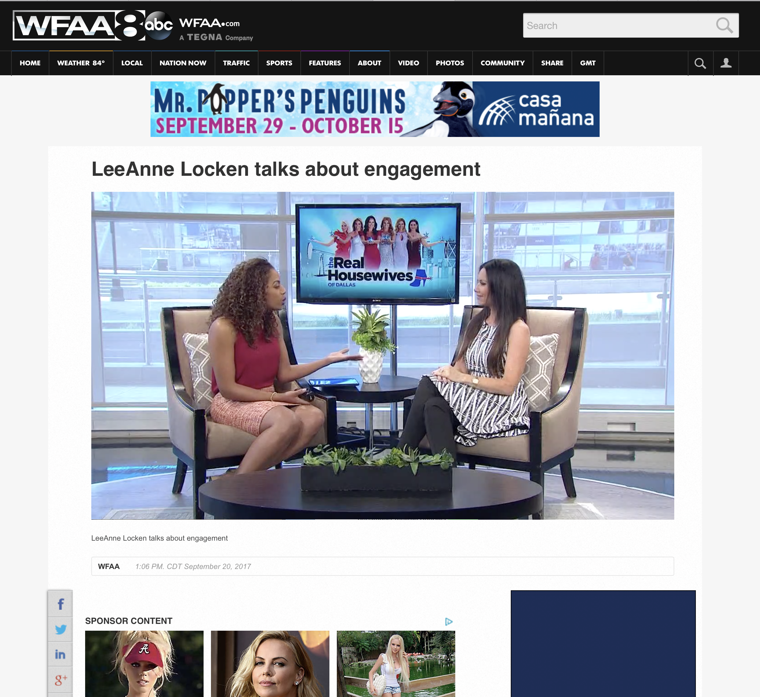 WFAA discusses my Engagement