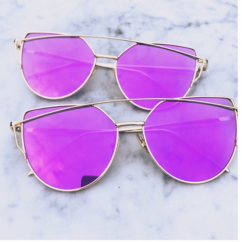 Deep Purple with Gold Frames