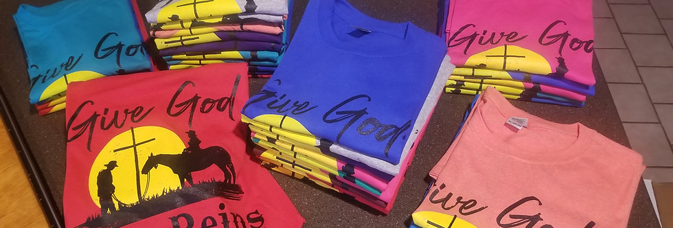 GIVE GOD THE REINS T-SHIRT