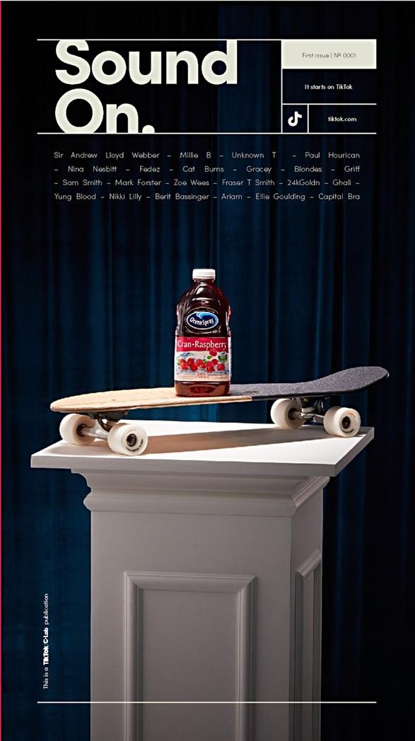 TikTok's Interactive Magazine cover, 1st Issue